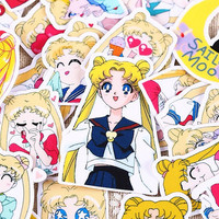 A set of 36 sailor moon stickers cute cartoon custom tags