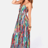 BB Dakota by Jack Bayberry Print Maxi Dress