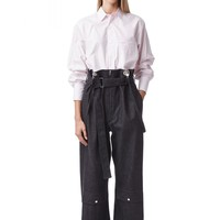 Graphite black extra oversize denim pants