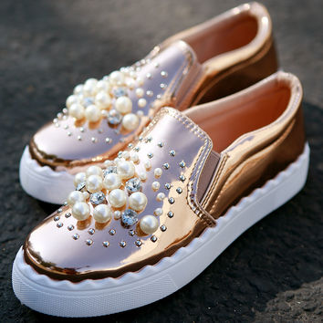Jewels And Pearls Slip-On Sneaker | UrbanOG
