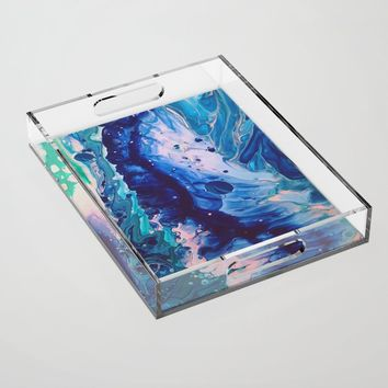 Aquatic Meditation Acrylic Tray by duckyb