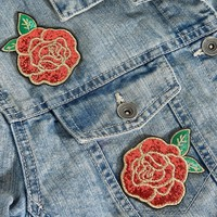 Skinnydip Rose Sequin Sew-On Sticker Patches at asos.com