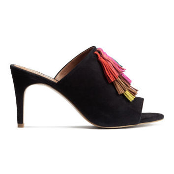H&M Suede Mules with Tassels $99
