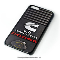 Dodge Cummins Turbo Diesel Design for iPhone 4 4S 5 5S 5C 6 6 Plus, and iPod Touch 4 5 Case