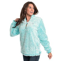 Heather Sherpa Pullover with Pockets in Oasis by The Southern Shirt Co. - FINAL SALE