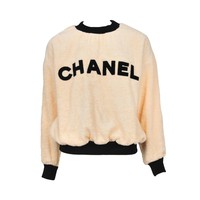Chanel Peach Terrycloth Pullover