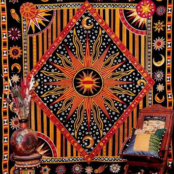 Apolo Sun Tapestry Bohemian Curtain Geometric Blanket