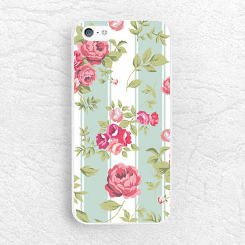 Striped Rose Floral pattern phone case for iPhone 6, Sony z1 z2 z3 compact, LG g2 g3 nexus 5, HTC one m7 m8, Moto x Moto g, flower case -P26