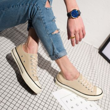 """Converse"" Fashion Canvas Flats Sneakers Sport Shoes low tops Beige"