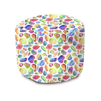 Rainbow Crystals Pouffe