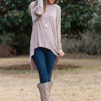 Shine All Night Top, Taupe