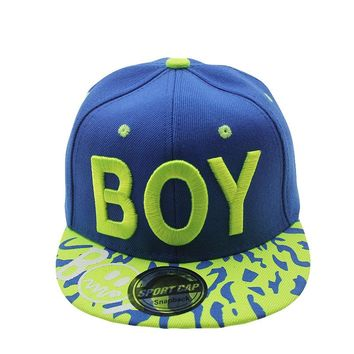 BOY  Boys Child Letter Sun Baseball Cap Summer Snapback Adjustable Hip Hop Children Hats Various Colors Caps