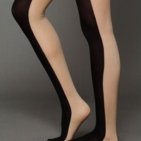 Free People Half and Half Opaque Tights