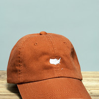 American Silhouette Golf Hat - Burnt Orange/White | Rowdy Gentleman