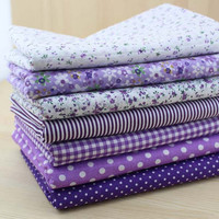 50x50cm 7 Prints Assorted Purple Collection Cotton Sewing Fabric