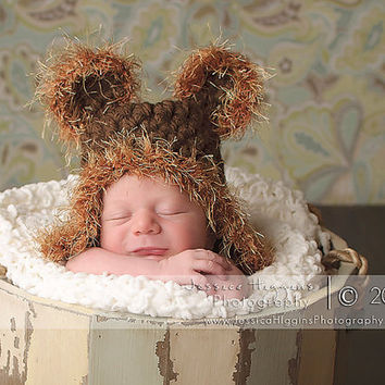 Newborn Crochet Hats Baby Boy Hats Baby Bear Hat by knoodleknits