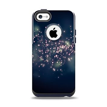 The Dark & Glowing Sparks Apple iPhone 5c Otterbox Commuter Case Skin Set