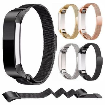 ac spbest High Quality Stainless Steel Replacement Watch Wristband Strap Band for Fitbit Alta Bracelet Belt Accessory Black /Gold / Silver
