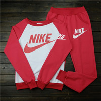 "Women ""NIKE"" Print Top Sweater Sweatshirt Pants Sweatpants Set Two-Piece Sportswear"
