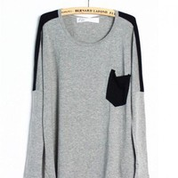 Loose T-Shirt in Contrast Colors
