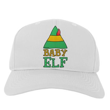 Matching Christmas Design - Elf Family - Baby Elf Adult Baseball Cap Hat by TooLoud