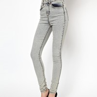 ASOS Uber High Waist Ultra Skinny Jeans in Light Acid Wash