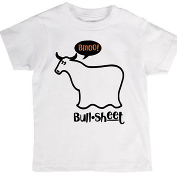 Bull sheet toddler and kids shirt, Halloween, ghost, crazy, holiday pun, pun, halloween costume, joke, funny shirt, bad joke, toddler, child