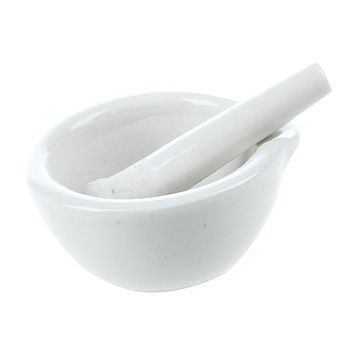Practical 6 ml porcelain pestle and mortar mixing bowls polished game - white