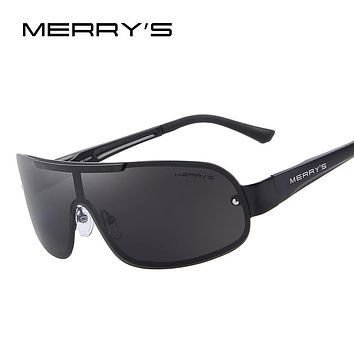 MERRY'S Men Classic Brand Sunglasses HD Polarized Glasses Men's Integrated Eyewear Sunglasses S'8616