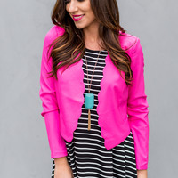 A Formal Affair Blazer in Pink