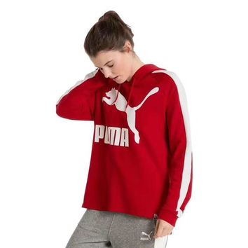 puma women fashion cashmere hooded top sweater pullover hoodie  number 1