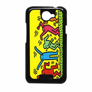 Keith Haring Pop Art Iphone Leaftunes HTC ONE X Case