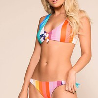 Get In Line Colorblock Swimsuit Bottoms