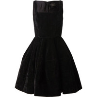 LANVIN Structured Velvet Dress