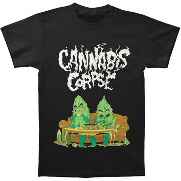 Cannabis Corpse Men's  Couch Dudes T-shirt Black