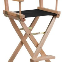 Bar Height Directors Chair in Black