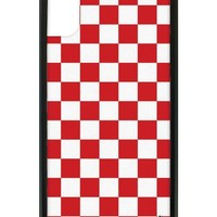 Red Checkers iPhone X Case