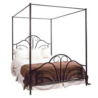 Hillsdale House Dover Queen Canopy Bed with Rails — QVC.com