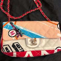 LMFDC0 CHANEL Small Shoulder Bag WOMENS, multicolored with the Eiffel
