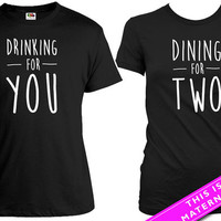 Matching Shirts For Couples Pregnancy Announcement Baby Announcement Pregnancy Reveal His And Her Shirts Mom To Be Dad To Be MAT-569-570