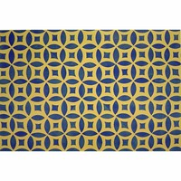 Gracewood Design IB04 Isaac Buck 4 Sunny Days Rectangular: 2 Ft. x 3 Ft. Canvas Rug