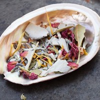 BLESSING SMUDGE MIX Herbal Incense blend of Rose Petals, Bay Leaf, White Sage, Lavender & Calendula