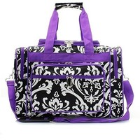 Damask Travel Duffle Bag 13""