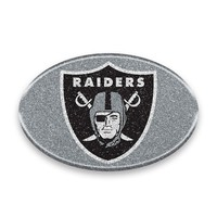 Oakland Raiders Auto Emblem - Oval Color Bling