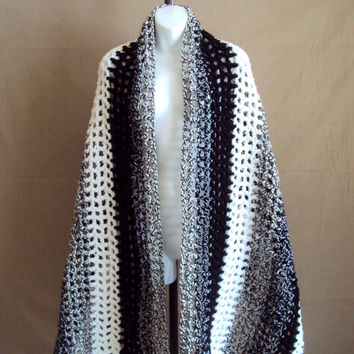 Extra Large Scarf Crochet Big Shawl Oversized Long Scarf Shoulder Wrap Lap Cover Throw Home Decor Valentine's Day Gift
