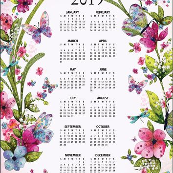 Butterflies Design Works 2019 Calendar Felt Applique Kit