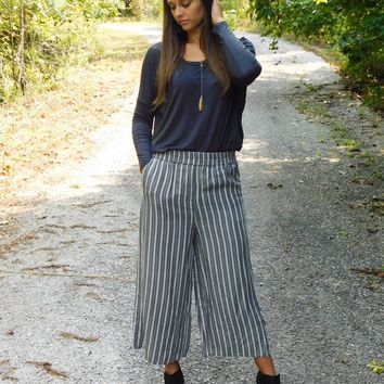 Tencel Stripe Pants RBL