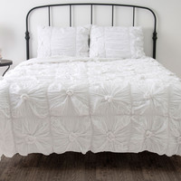 Day Dream White Twin Size Comforter Bed Set