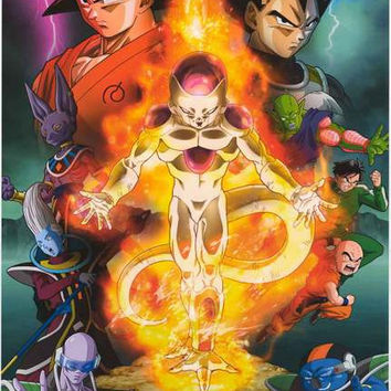 Dragon Ball Z Resurrection F Cast Poster 22x34