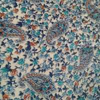 Vintage fabric, Paisley, Floral print, sewing, quilting